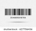 Stock vector realistic barcode icon isolated 627706436