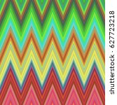 multicolored zig zag stripe... | Shutterstock .eps vector #627723218