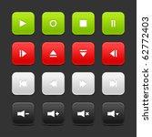 16 media control web 2.0... | Shutterstock .eps vector #62772403