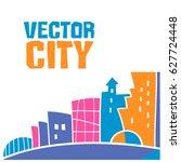 simple fantastic house  vector... | Shutterstock .eps vector #627724448