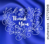 thank you card with line art... | Shutterstock .eps vector #627725048
