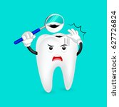 cavity tooth character with... | Shutterstock .eps vector #627726824