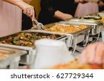 catering and food for wedding... | Shutterstock . vector #627729344