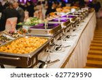 catering and food for wedding... | Shutterstock . vector #627729590