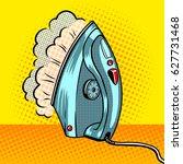 steam clothes iron pop art... | Shutterstock .eps vector #627731468