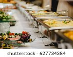 catering and food for wedding... | Shutterstock . vector #627734384