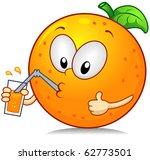 Illustration Of An Orange...