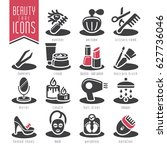 beauty care icon set. | Shutterstock .eps vector #627736046