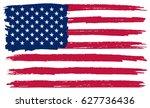 grunge american flag.vector... | Shutterstock .eps vector #627736436