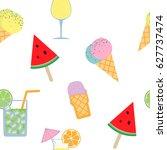 vector isolated summer... | Shutterstock .eps vector #627737474