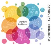 circle concept. rainbow... | Shutterstock .eps vector #627738110