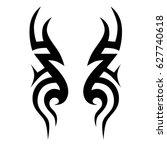 tattoo tribal vector designs.... | Shutterstock .eps vector #627740618
