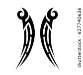 tattoo tribal vector design.... | Shutterstock .eps vector #627740636