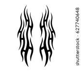 tribal tattoo art designs.... | Shutterstock .eps vector #627740648