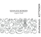 seamless borders with hand... | Shutterstock .eps vector #627745604