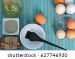 home face and hair mask | Shutterstock . vector #627746930