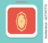 diamond vector icons set | Shutterstock .eps vector #627747773