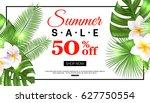 summer sale banner design with... | Shutterstock .eps vector #627750554