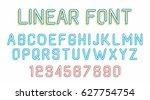 linear font | Shutterstock .eps vector #627754754