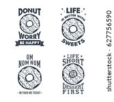 hand drawn labels set with... | Shutterstock .eps vector #627756590