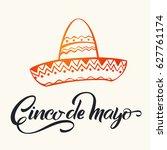 cinco de mayo lettering.... | Shutterstock .eps vector #627761174