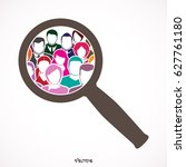 people search icon  pictograph  ...   Shutterstock .eps vector #627761180