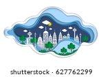 paper art design element with... | Shutterstock .eps vector #627762299