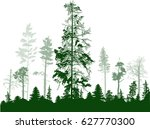 illustration with green forest... | Shutterstock .eps vector #627770300