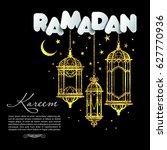 greeting card ramadan kareem... | Shutterstock .eps vector #627770936