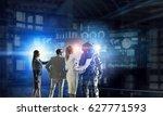 scientists designing space suit.... | Shutterstock . vector #627771593
