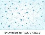 global network background ... | Shutterstock .eps vector #627772619