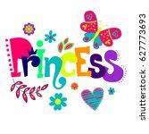 t shirt design for girls on... | Shutterstock .eps vector #627773693