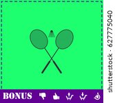 badminton icon flat. simple... | Shutterstock .eps vector #627775040
