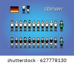 germany football soccer player... | Shutterstock .eps vector #627778130