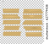 isolated sticky tape pieces on... | Shutterstock .eps vector #627779438