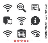 wifi wireless network icons. wi ... | Shutterstock .eps vector #627785960