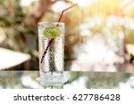 Glass Of Fresh Sparkling...