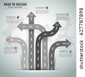 road way infographic template 5 ... | Shutterstock .eps vector #627787898