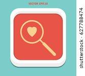 heart search icon vector