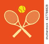 colorful rotated tennis rackets ... | Shutterstock .eps vector #627788828