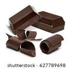 dark chocolate   chocolate... | Shutterstock . vector #627789698