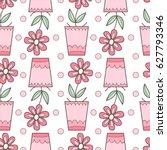 cute simple vector flower... | Shutterstock .eps vector #627793346