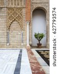 Small photo of SEVILLE, SPAIN, March 17, 2017: Real Alcazar in Seville. Detail in Real Alcazar