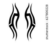 tattoo tribal vector designs.... | Shutterstock .eps vector #627800228