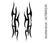 tribal tattoo art designs.... | Shutterstock .eps vector #627800234