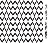 black and white wavy seamless... | Shutterstock .eps vector #627800768