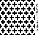 crosses wallpaper. repeated... | Shutterstock .eps vector #627803558