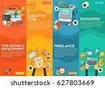 webdesign  development ... | Shutterstock .eps vector #627803669