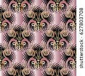 damask seamless pattern. floral ... | Shutterstock .eps vector #627803708