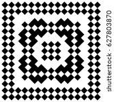 slavic embroidery motif. ethnic ... | Shutterstock .eps vector #627803870